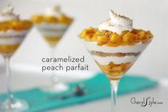 Caramelized peach pie parfait - CherylStyle