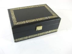 Vintage #1970s 80s #black leatherette jewelry box design philipp made in #sweden,  View more on the LINK: http://www.zeppy.io/product/gb/2/291988524736/