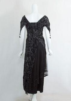 Edwardian Clothing 1916 Sequined dinner dress  So Downton Abbey!