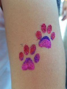 Rózsaszín mancsok #csillámtetoválás  #csillámtetkó #glitter