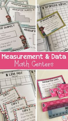 These 10 centers are an engaging way to get students practicing measurement, area & perimeter and graphs! Perfect for independent work during math center time!