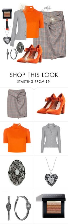 """Orange You Gonna Like"" by jfcheney ❤ liked on Polyvore featuring Nasty Gal, Delpozo, Altuzarra, Arizona, Liz Claiborne and Bobbi Brown Cosmetics"