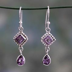 Amethyst Jewellery – Amethyst Earring, Sterling Silver, Amazing Earring – a unique product by Midas-Jewelry on DaWanda Amethyst Jewelry, 925 Silver Earrings, Amethyst Earrings, Amethyst Gemstone, Ring Earrings, Gemstone Jewelry, Silver Jewelry, Unique Jewelry, Jewelry Box