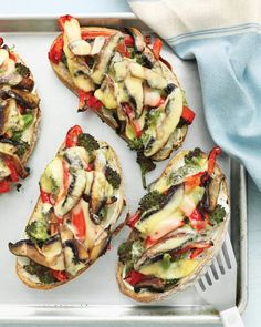 Portobello, Broccoli and Red Pepper Melts Recipe