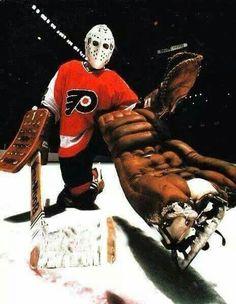 Philadelphia Flyers G Bernie Parent Flyers Hockey, Ice Hockey Teams, Hockey Goalie, Hockey Games, Hockey Players, Philadelphia Flyers, Nhl, Bernie Parent, Goalie Mask