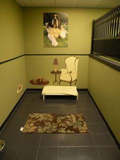 Dog Kennel Designs | Luxury dog boarding suites inspiration room.