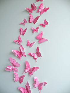 """3D Butterfly wall art to decorate Nursery, Children's Room, Bedroom or any other room - """"FancyPants"""" Set. $22.50, via Etsy."""