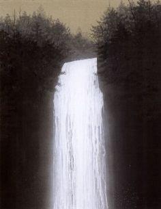 Waterfall painted by Hiroshi Senju