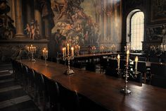 Old castle dining room.