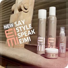 Introducting Wella's New Line, EIMI.  On January 18th our salon will be having a class from 10am-12pm!    Create head-turning volume and manageable matte texture for any individual style.  Absorb oil and refresh the hair with Dry Me's outstanding tapioca starch formula!  6305 Broadway San Antonio, TX 78209!