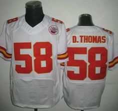 Nike Kansas City Chiefs Jersey #58 Derrick Thomas Elite White Jerseys