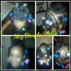 Two Strand Twists With A Flower Pin Up Shared By Shaneria Mosley - http://community.blackhairinformation.com/hairstyle-gallery/kids-hairstyles/two-strand-twists-flower-pin-shared-shaneria-mosley/ #kidshairstyles