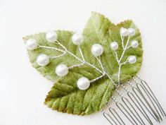 Bridal Hair Comb Lily of the Valley Hair Clip by NoonOnTheMoon