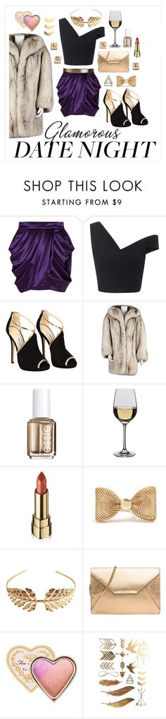 """""""Going out with love one"""" by nordicstyle ❤ liked on Polyvore featuring Balmain, Maticevski, Jimmy Choo, Christian Dior, Essie, Dartington Crystal, Dolce&Gabbana, GUESS, Tuleste and MICHAEL Michael Kors"""