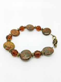 Check out this item in my Etsy shop https://www.etsy.com/listing/471458188/light-brown-braceletbrown-stone