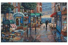 Rainy Day Stroll - Cross Stitch Chart