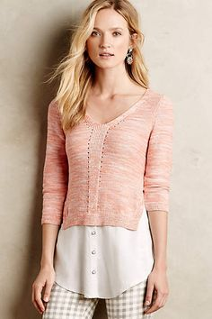 Layered Aselin Pullover - anthropologie.com