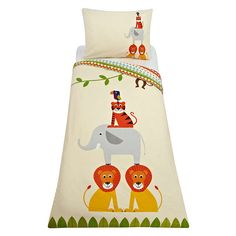 Buylittle home at John Lewis Animal Fun Duvet Cover and Pillowcase Set Online at johnlewis.com
