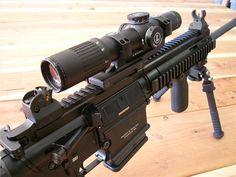 You're not bulletproof. — HK The is the civilian model of. Fn Scar, Assault Rifle, Weapons, Guns, Rifles, Eye, Modern, Firearms, Weapons Guns