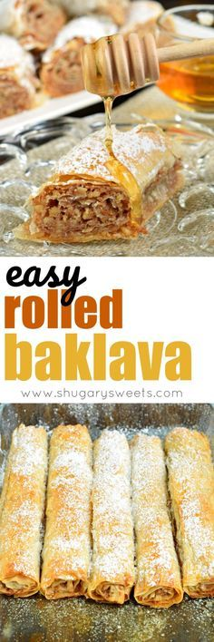 Sweet and flaky, this easy, rolled Russian Baklava will melt in your mouth! Phyllo dough, nuts, and sugar never tasted so good! @princesscruises #comebacknew #ad