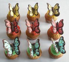 Pillangós cupcake