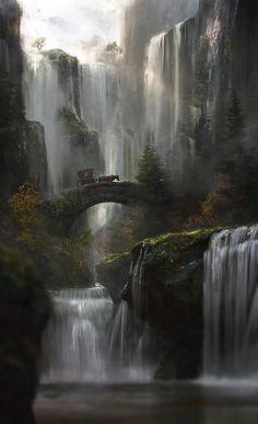 The Waterfall by Jordi Gonzalez Escamilla