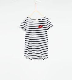 ストライプ柄Tシャツ-すべてを見る-Tシャツ-ガール (4歳-14歳)-キッズ | ZARA 日本