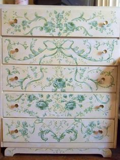 Chest of drawers in French Rococo style by Jonny Petros.