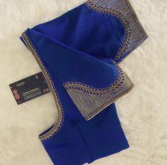 Hand Work Blouse Design, Simple Blouse Designs, Stylish Blouse Design, Bridal Blouse Designs, Embroidery Neck Designs, Aari Embroidery, Kalamkari Blouse Designs, Traditional Blouse Designs, Blouse Designs Catalogue