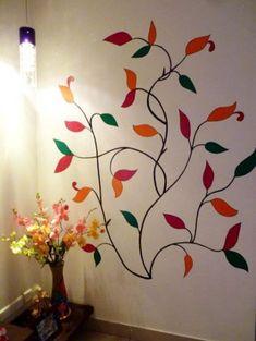 Bedroom art diy stencils 68 ideas for 2019 Tree Wall Art, Mural Wall Art, Diy Wall Art, Wall Painting Decor, Diy Painting, Graffiti Murals, Bedroom Art, Wall Design, Simple Living