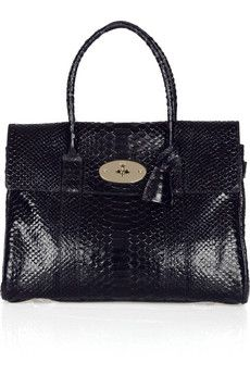 Mulberry - The Bayswater snake-effect leather bag Leather Purses, Leather Bag, Leather Handbags, Top Designer Handbags, Designer Shoes, Mulberry Purse, Best Handbags, City Bag, Christian Louboutin Shoes
