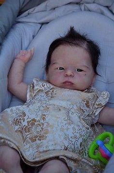 BEAUTIFUL REBORN BABY DOLL*MAYLIN*OLGA AUER LIM. EDITION ROOTING EYEBROWS