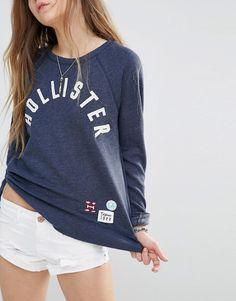 Image 3 - Hollister - Sweat vintage avec logo et empiècements