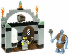 Troll on the Loose by Lego. $75.92. Product Dimensions: 7.5 x 5.8 x 2.1 inches. 71 Pieces. Amazon.com                Fans of Harry Potter can now reenact the scene of Harry, Ron,  and Hermione encountering the mountain troll in the bathroom at  Hogwarts. This 71-piece set features standard LEGO-style blocks and, of  course, figures of Harry Potter and the mountain troll. The menacing  troll is holding a large club and is dressed in his fabriclike  loincloth with vest, ...