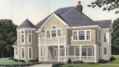 Country House Plan with 4021 Square Feet and 4 Bedrooms(s) from Dream Home Source | House Plan Code DHSW72784
