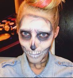 Pastel #skullmakeup look created by Amy Clarke #theamyclarke #halloweenmakeup @theamyclarke #skull