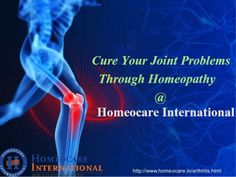 Do you feeling pain at joints like back bone, neck, legs, knees etc? This is known as Arthritis. Due to auto-immune disorder people get Rheumatoid  Arthritis. Osteo Arthritis is an common disorder in adults. It is an acute disorder. Through Homeopathy you can cure your joint pains permanently .  Homeocare International provides homeopathy treatment for arthritis very effectively.  Call us now to book an appointment: 1800-108-1212  Visit us at:  http://www.homeocare.in/arthritis.html