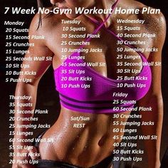 7 Week No-Gym workout