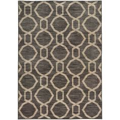 Geometric Chain Grey/ Beige Rug (9'10 X 12'10) - Overstock™ Shopping - Great Deals on Style Haven 7x9 - 10x14 Rugs