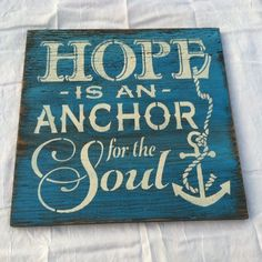 HOPE is an ANCHOR for the SOUL Hand painted by TheCountryNook, $22.00