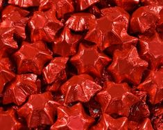 A bulk Foiled Chocolate Stars Red box. Chocolate Lollies, Chocolate Stars, Wedding Chocolates, Confectionery, Bar, Food, Chocolate Lollipops, Essen, Yemek