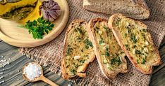 Baked Italian Herb Toast With Roasted Garlic Spread Roasted Garlic Spread Recipe, Baguette, Sandwiches, Queso Fresco, Breakfast Toast, Salmon Burgers, Avocado Toast, Side Dishes, Appetizers