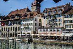 Luzern | von jellyfish949 Wanderlust, Mansions, House Styles, Home, Lucerne, Manor Houses, Villas, Ad Home, Mansion