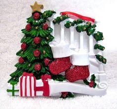 Christmas Ornament Stockings And Tree Break Resistant Glitter Highlights New  #unbranded