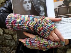 Possessed Printer Mitts by Emma Knits
