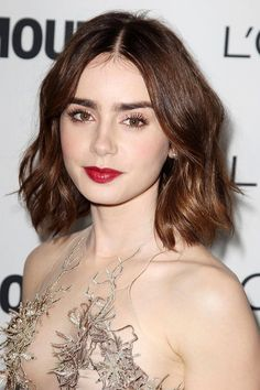 Lily Collins Hair Inspo, Hair Inspiration, Wavy Bob Hairstyles, Party  Hairstyles, Celebrity 189cb569db