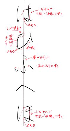 は~ほ Japanese Typography, Japanese Calligraphy, Japanese Handwriting, Calligraphy N, Kanji Japanese, Hiragana, Japanese Characters, Hard Work And Dedication, Pen Art