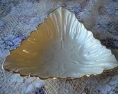 Vintage Ivory Cream Lenox Nut, Candy or Trinket Dish
