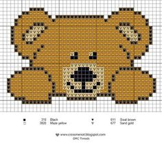 I must cross stitch this adorable bear.