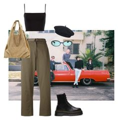 """Untitled #85"" by sammyalipan ❤ liked on Polyvore featuring Erika Cavallini Semi-Couture, Alexander Wang, Element, Dr. Martens and Gucci"